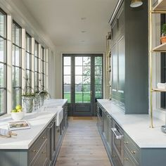How many of you had a chance to see this stunning butlers pantry in person during the parade of homes? What was your favorite part of this space?⠀⠀designed by by Home Decor Kitchen, Kitchen Design, Kitchen Installation, Casement Windows, Grey Kitchens, Transitional Kitchen, Butler Pantry, Window Design, Cabinet Design