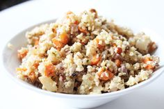 Le taboulé d'hiver : Quinoa, carottes, marrons et noisettes