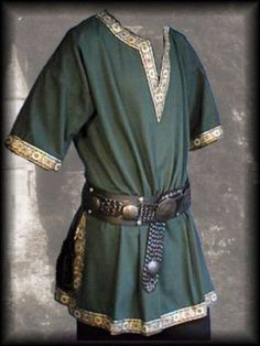 Medieval-Tunic-Brocade-Braided-Renaissance-SCA-Larp-Aristocrat-Chevalier