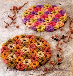 Delicadezas en crochet Gabriela: Alfombras ó cubiertas de sillas de motivos florales