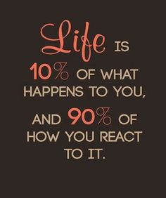How You React - Life Quote