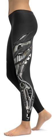Mechanic Ripped Carbon Leggings - GearBunch Leggings / Yoga Pants