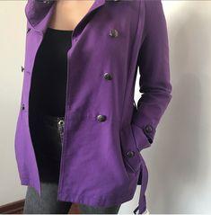 Chaqueta JJO Morada Talla M: Calvin Klein, Raincoat, Blazer, Jackets, Fashion, Leather Jacket, Gray Fabric, Rain Jacket, Down Jackets