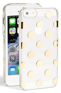 Free shipping and returns on kate spade new york 'le pavillion' iPhone 5 & 5s case at Nordstrom.com. Gilt polka dots add signature charm to a clear rigid case designed to showcase your iPhone's style.