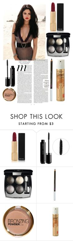 """""""Selena Gomez's Elle Photoshoot Make-up"""" by loveselena22 ❤ liked on Polyvore featuring Chanel, Marc Jacobs, Henri Bendel, H&M, L'Oréal Paris, red, makeup, selenagomez and magazine"""