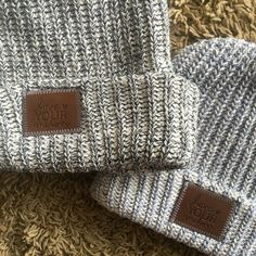 Love Your Melon Black Speckled Beanie and Gray Speckled Beanie