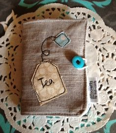 Beautifully done. Tea Wallet from DittoCrafts.  FB: /DittoCrafts  www.dittocrafts.com