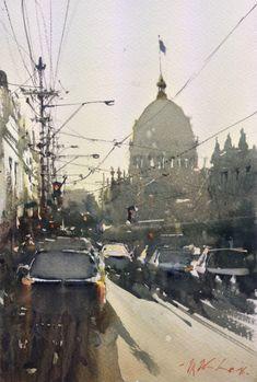 Joseph Zbukvic, Gertrude Street 1 Watercolour