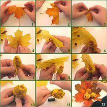Autumn kerajinan dari daun maple.