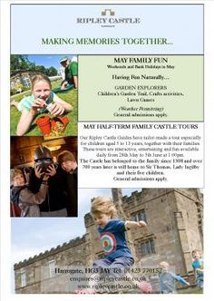 What's on at Ripley Castle this Half Term / for kids in Harrogate
