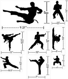 Bring your childu0027s bedroom to life with this personalized karate wall decal that features a high kick against their name in an Asian inspired font!  sc 1 st  Pinterest & Bring your childu0027s bedroom to life with this personalized karate ...