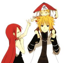 Minato, Naruto and Kushina: I want this in a real show not the AU Naruto that went as an adult