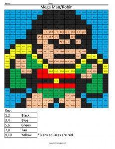 mega man master chief multiplication coloring page | coloring ... - Mega Man Printable Coloring Pages