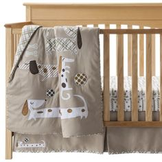 Black Lab And Earth Tone Dog 6 Piece Crib Set Labs Bedding Sets