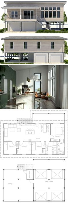 Small House Plan ... great, efficient 'extra' vacation home plan ...