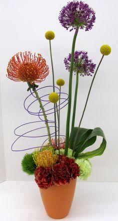 Arranjo floral para o dia das mães. Diferente!!  Fotografia: http://www.sprout-flowers.com.
