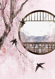 Wallpaper…By Artist Unknown… – Art Corner – hotart Fantasy Landscape, Fantasy Art, Landscape Art, Art Chinois, Art Asiatique, Art Japonais, Art Corner, China Art, Japan Art