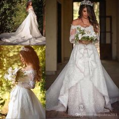 2017 New Vestios De Novia Lace Off Shoulders A-line Wedding Dresses Amazing Garden Long Sleeves Lace Appliques Backless Long Bridal Gowns Wedding Dresses Beach Bridal Gowns Garden Vintage Wedding Gown Online with 179.0/Piece on Magicdress2011's Store | DHgate.com