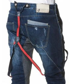 Salopette Sarouel En Jeans Homme