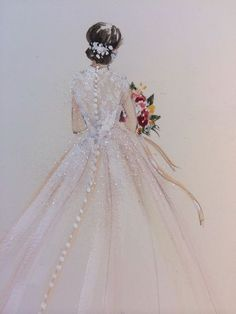 Ideas fashion sketches gowns wedding dresses for 2019 Wedding Dress Illustrations, Wedding Dress Sketches, Wedding Illustration, Wedding Dresses, Wedding Drawing, Fashion Illustrations, Paper Fashion, Fashion Art, Drawing Fashion