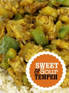 Tempeh is a delicious mixture of grains. It works wonderfully in this meal and the sauce tastes like the kind you get in a good Chinese restaurant! It's a savory filling and healthy meal!