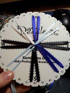 The world of YukonReddy Jewelry and Beads: Kumihimo 16 warp round braid with 2 types of ribbon