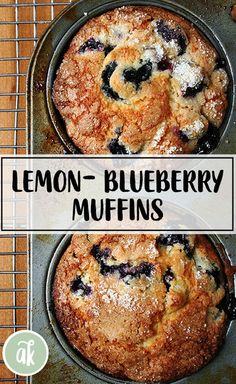 Lemon-blueberry muffins — my favorite! Sugar-crusted, lemony crumb, loaded with blueberries: what's not to love? This is a long-time family favorite recipe and always a crowd pleaser. (New York Times Recipe) Muffin Recipes, Brunch Recipes, Gourmet Recipes, Breakfast Recipes, Cooking Recipes, Lemon Blueberry Muffins, Blueberry Recipes, Blue Berry Muffins, Blueberries Muffins