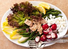Salad Nicoise -- so sumptuous for Phase 2. Get the recipe from our newsletter.