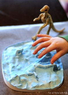 Making Your Own Dinosaur Fossils from Fun at Home with Kids