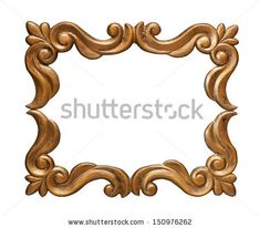 Vector Vintage Border Frame Engraving With Retro Ornament Pattern In Antique Rococo Style Decorative Design - 168723710 : Shutterstock