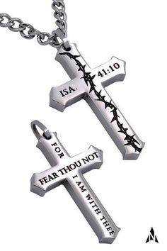 ISAIAH 41 10 Crown Of Thorns Cross Necklace e530c6f0b322