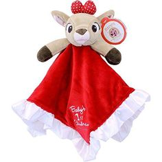 Kids Preferred Baby's First Christmas Blanky - Clarice. Made of soft micro-fiber fleece. Soft red and white polka dot fabric on the underside of the blanket. Eyes are embroidered to ensure safety. Top 10 Christmas Gifts, Babys 1st Christmas, Whimsical Christmas, Christmas Decor, Rudolph Red Nosed Reindeer, Rudolph The Red, New Baby Gifts, Girl Gifts, Christmas Decorations