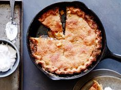 Skillet Apple Pie with Cinnamon Whipped Cream recipe from Trisha Yearwood via Food Network