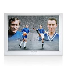 Ron Harris & Jimmy Greaves Hand Signed Photo - Chelsea Legends