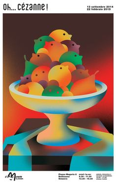 Yann Legendre, Poster for an exhibition of Paul Cezanne at the Children Museum of Bellinzona Switzerland, 2014