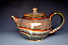 Stoneware Teapot Handmade Pottery Mahogany Plum B Ceramic Teapots, Ceramic Art, Handmade Pottery, Handmade Art, Brewing Tea, Japanese Pottery, Loose Leaf Tea, Clay Art, Stoneware