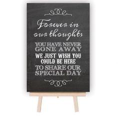 In Loving Memory Of Print Memorial Table Wedding Memorial