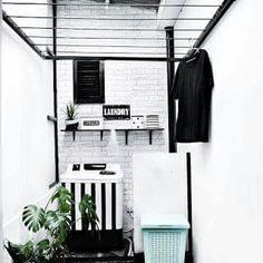 inspiring small laundry room design – Home Design White Laundry Rooms, Laundry Room Bathroom, Laundry Room Organization, Small Bathroom, Small Laundry, Kitchen Small, Kitchen Ideas, Kitchen Pantry, Bath Room