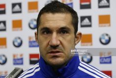 France's rugby union national team player Scott Spedding speaks during a press conference after a training session on November 2014 in Marcoussis, outside Paris. France Rugby, Team Player, Conference, November, Training, Paris, November Born, Montmartre Paris, Fitness Workouts