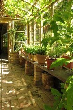 sun room/potting shed by C@rol #conservatorygreenhouse #pottingshed #pottingsheds