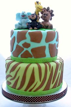 Love this jungle themed cake...could be perfect for a baby shower or little kid's birthday! Found on Wilton's Facebook
