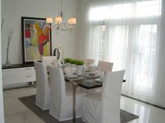 Kinsmen Lotto Home, Dining Room. Dining Room, Dining Table, Curtains, Furniture, Home Decor, Blinds, Decoration Home, Room Decor, Dinner Table