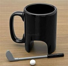golf mug, interesting...