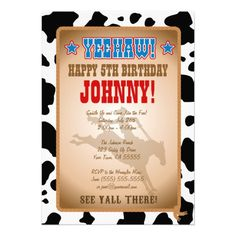 Cowboy Birthday Party Invitation