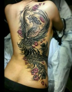 Beautiful Phoenix Bird Tattoo Design Ideas For Women.