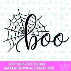 Boo – We LOVE this Halloween Cut File from Makers Gonna Learn so much! Zip file Containing: SVG, PNG compatible with Cricut Design Space, Silhouet… – Diy Poject Ideas Vinyl Projects, Easy Diy Projects, Craft Projects, Project Ideas, Craft Ideas, Crafts For Teens, Crafts To Make, Diy Crafts, Halloween Borders