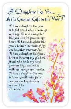 60th birthday verse google search card verse pinterest sk a daughter like you is the greatest gift in the world plastic wallet card by blue bookmarktalkfo Gallery