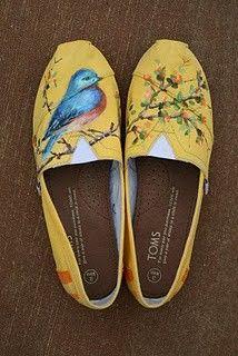 Painted Canvas Shoes (Toms)