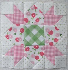 Sewing Quilts Bee In My Bonnet - Lots of quilt pics but I really like the colors she used in this block. Would be so cute for one of the Granddaughter's quilts. Pink Quilts, Baby Girl Quilts, Girls Quilts, Quilt Block Patterns, Pattern Blocks, Quilt Blocks, Quilting Projects, Quilting Designs, Quilting Ideas