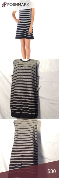 Sami & Dani sweater dress NWT New with tags silver and black stretch sleeveless dress. Size xl. Cute and very comfy. Sami & Dani Dresses Midi
